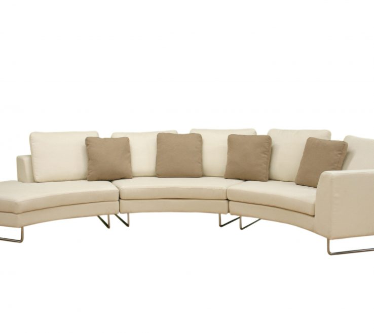Enthralling Curved Modern Sofa