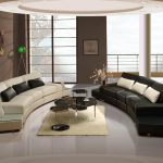 Enthralling Curved Modern Sofa Of Black And White Living Room With Shaped