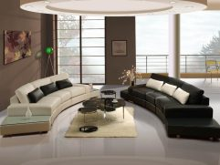 Curved Modern Sofa Of Tufted