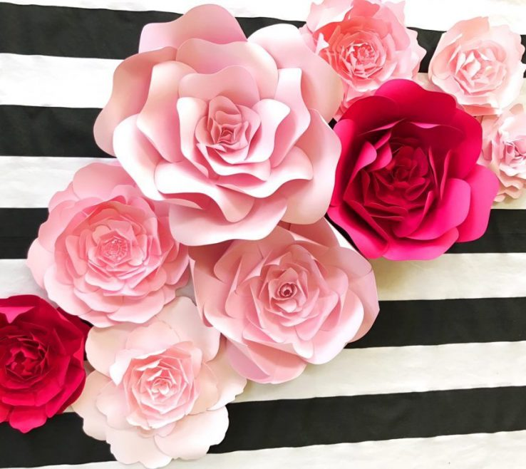Enthralling Flower Wall Decorations Of Kate Spade Inspired Paper Decor, For Baby