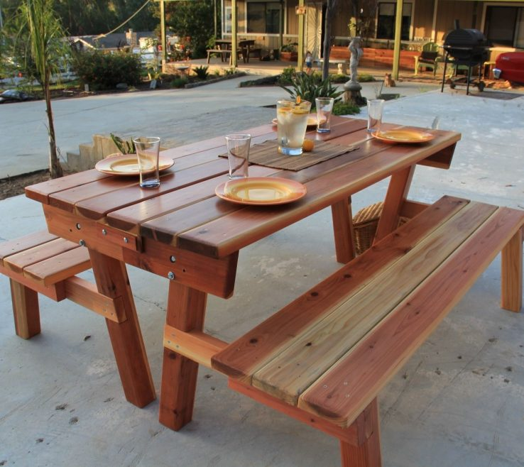Enthralling Garden Bench Table Of Custom Made Picnic Table/garden By Scott