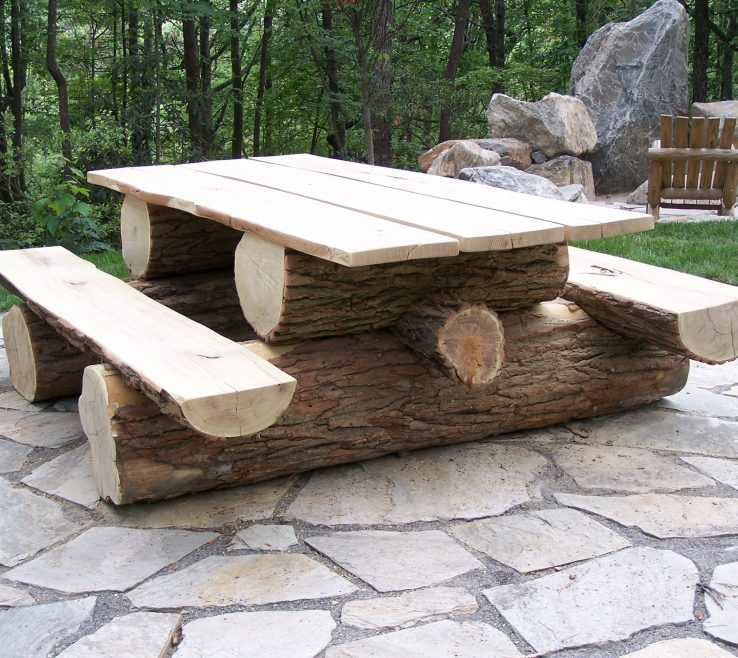 Enthralling Garden Bench Table Of This Is A Little Overkill, But I