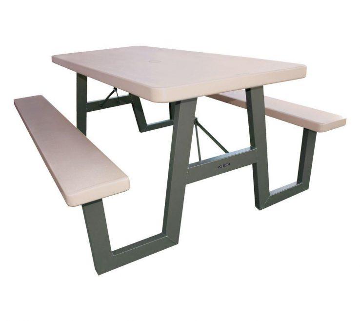 Enthralling Garden Bench Table Of W Frame Folding Picnic