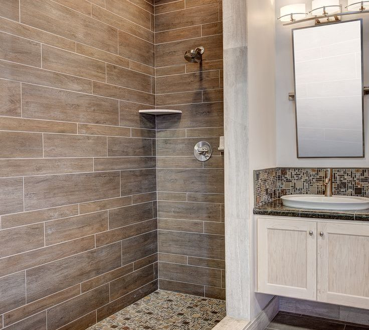 Enthralling Modern Bathroom Walls Of Shower With Wood Tile More