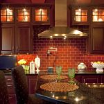 Enthralling Red Brick Kitchen Wall Tiles Of Designs Elegant Modern Marble Backsplash