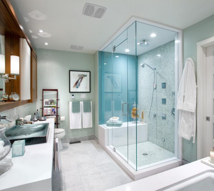Enthralling Showers Of Modern Master Bathroom Retreat