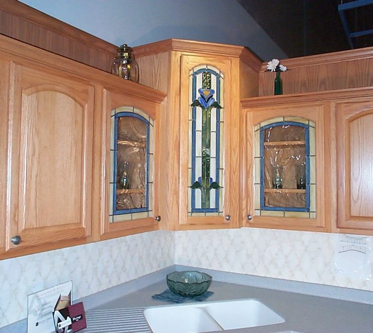 Enthralling Stained Glass Kitchen Doors Of S S