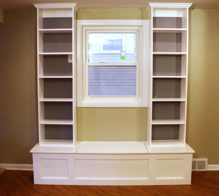 Enthralling Under Window Seat Storage Of How To Build A Bench With Shelving