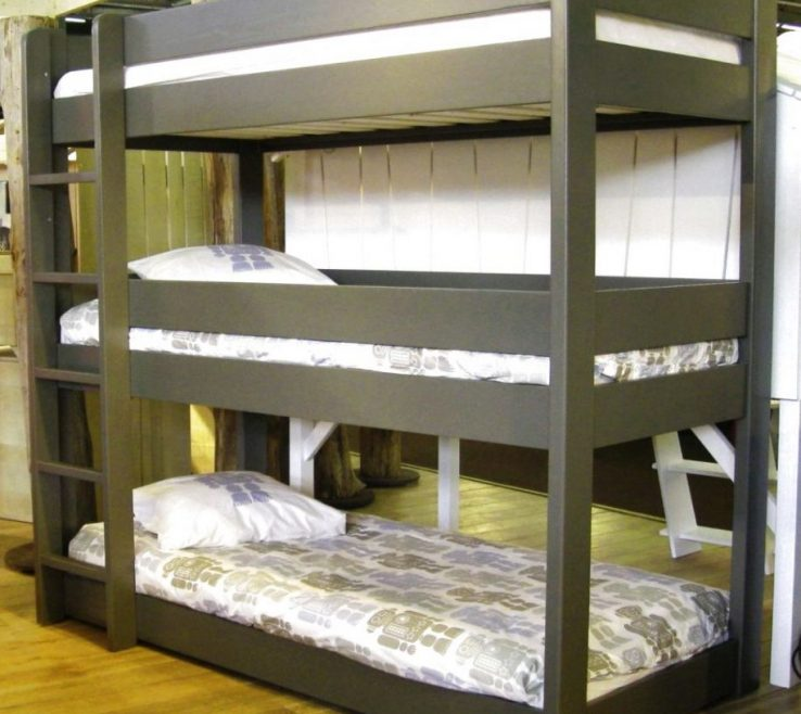 Entrancing Beds For Small Spaces Of Image Of: Triple Bunk