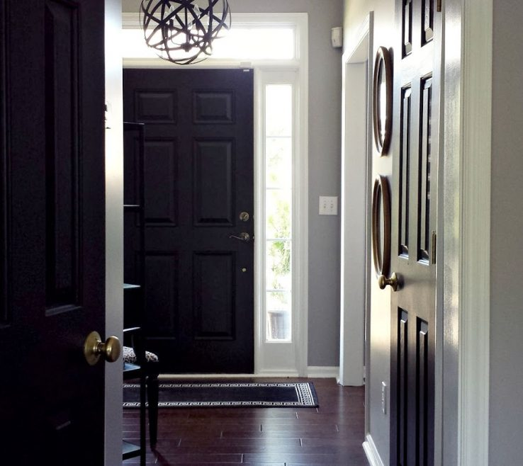 Entrancing Black Interior Doors Of How To Paint Andamp Update Brass Hardware