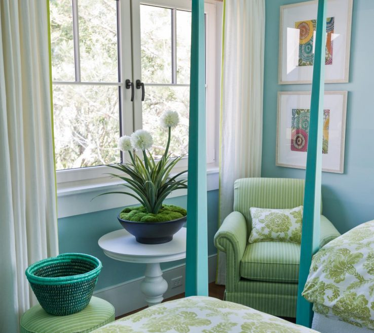 Entrancing Decorating In Green Of And Blue Via Dream Home
