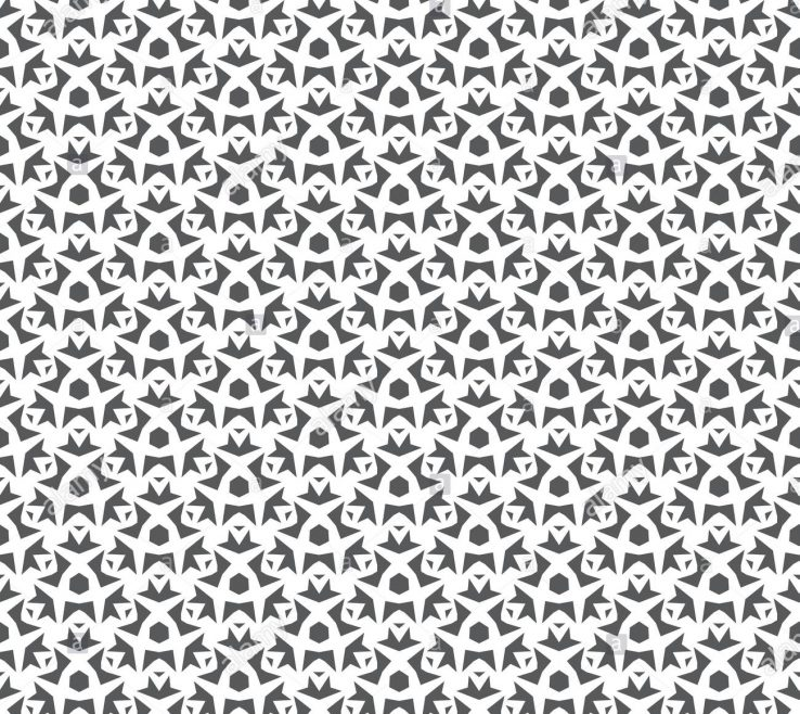 Entrancing Geometric Decoration Of Abstract Seamless Pattern Repeating Black