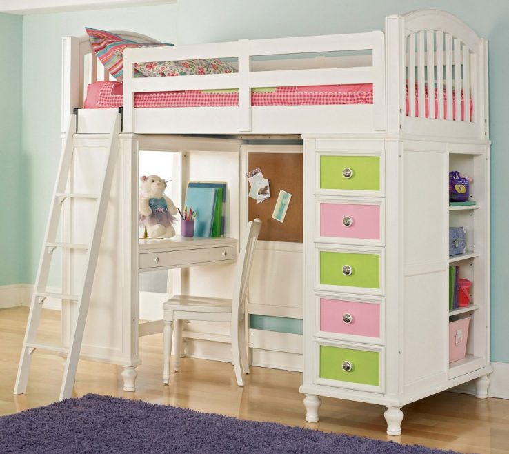 Entrancing Kids Study Table With Storage Of Sleep And Loft | Bunk Bed Desk