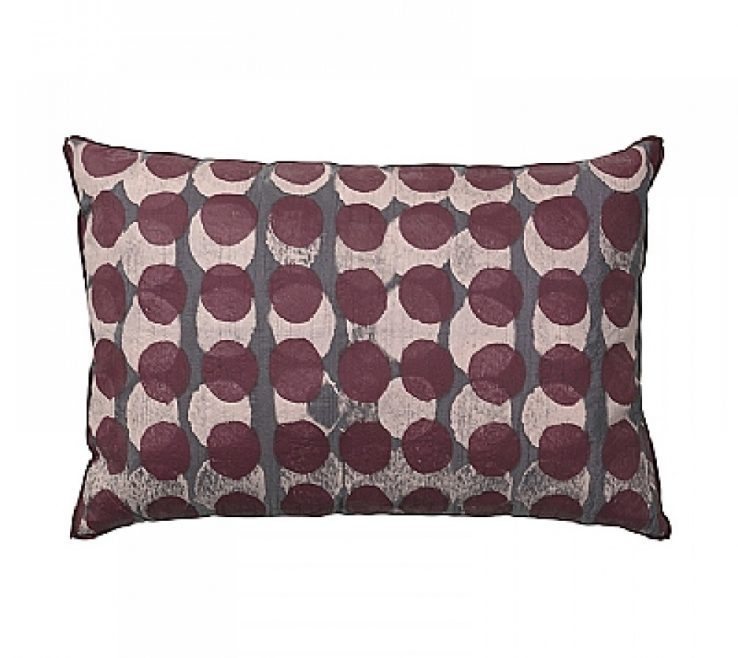 Entrancing Red And Purple Home Decor Of Grey Shadows Cushion