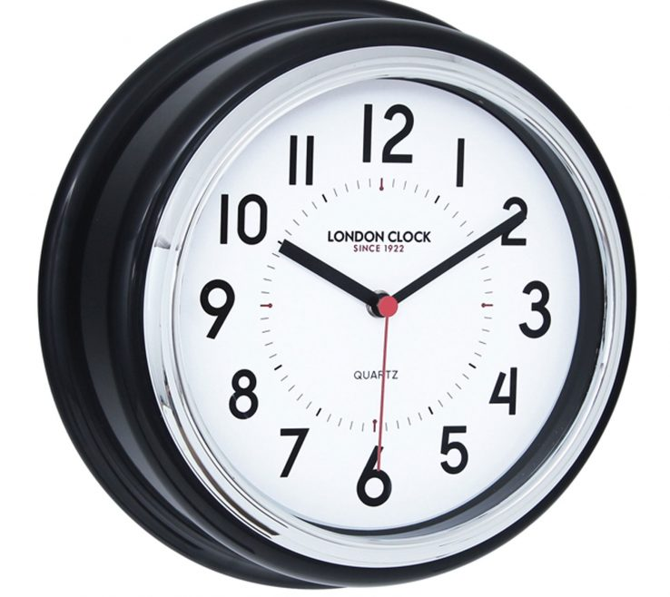 Entrancing Wall Clocks For Kitchens Of Black Round Kitchen Clock Kitchen