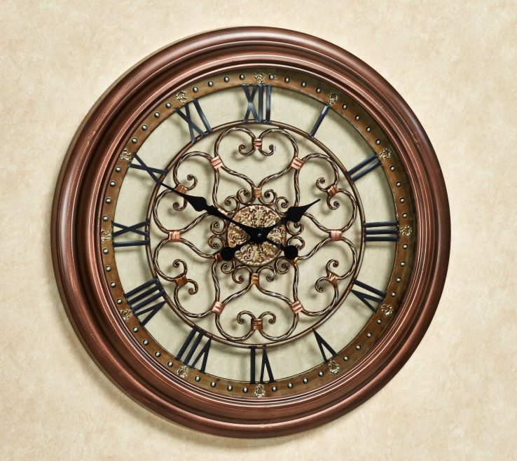 Entrancing Wall Clocks For Kitchens Of Eternal Love Clock Bronze. Touch To Zoom