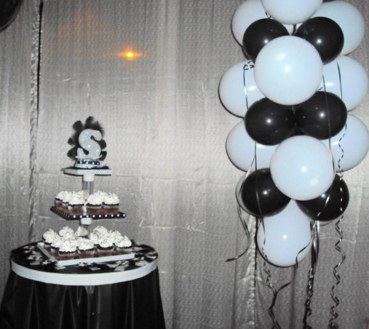 Exquisite Black And White Decorating Ideas For A Party Of Home