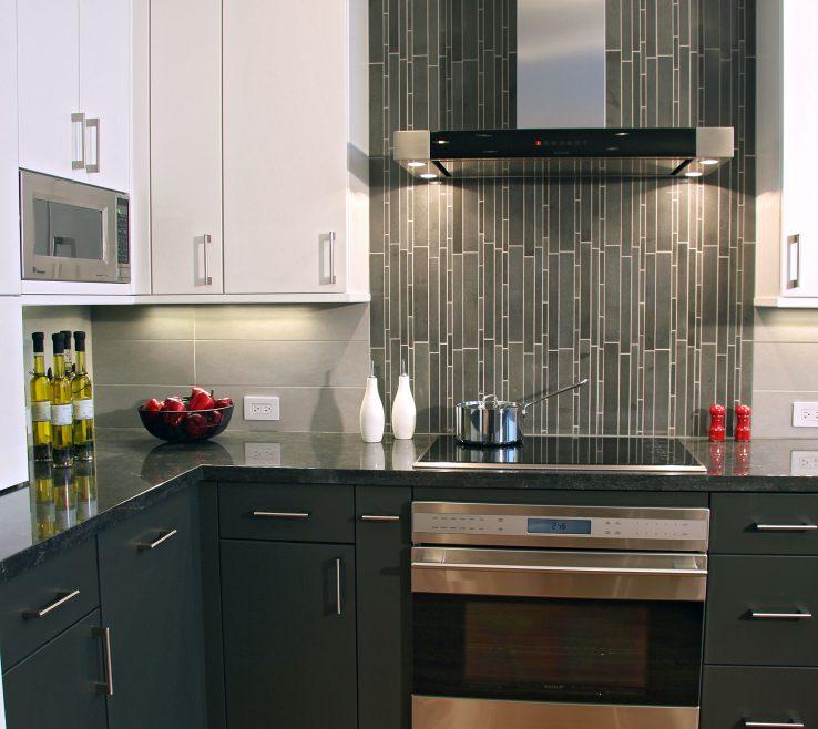 Exquisite Designer Kitchen Backsplash Of Contemporary Kitchen Vertical Tiles Are A Perfect