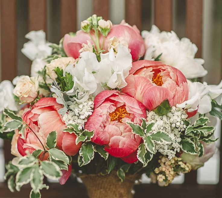 Exquisite Peony Flower Arrangement Ideas Of Relaxed Andamp Rustic Coral Filled Barn