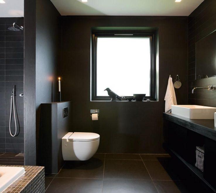 Exquisite Small Modern Bathroom Ideas Of Black Photo