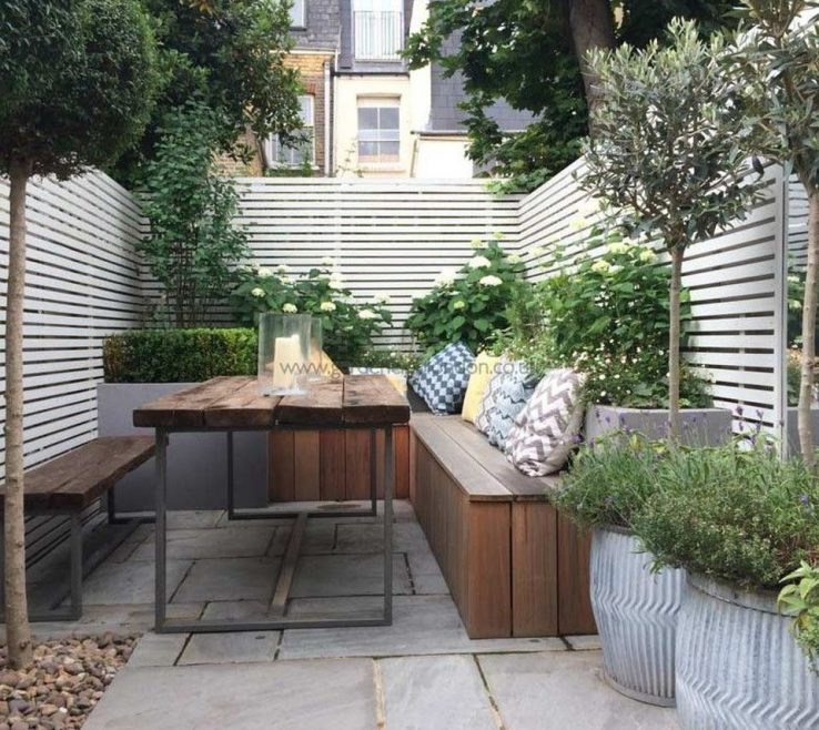 Exquisite Small Seating Area Of Courtyard Garden With Design And Layout 15
