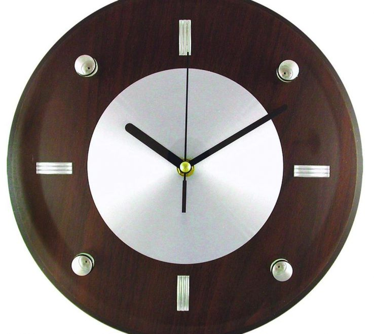 Exquisite Wall Clocks For Kitchens Of Glass And Brown Wood Clock