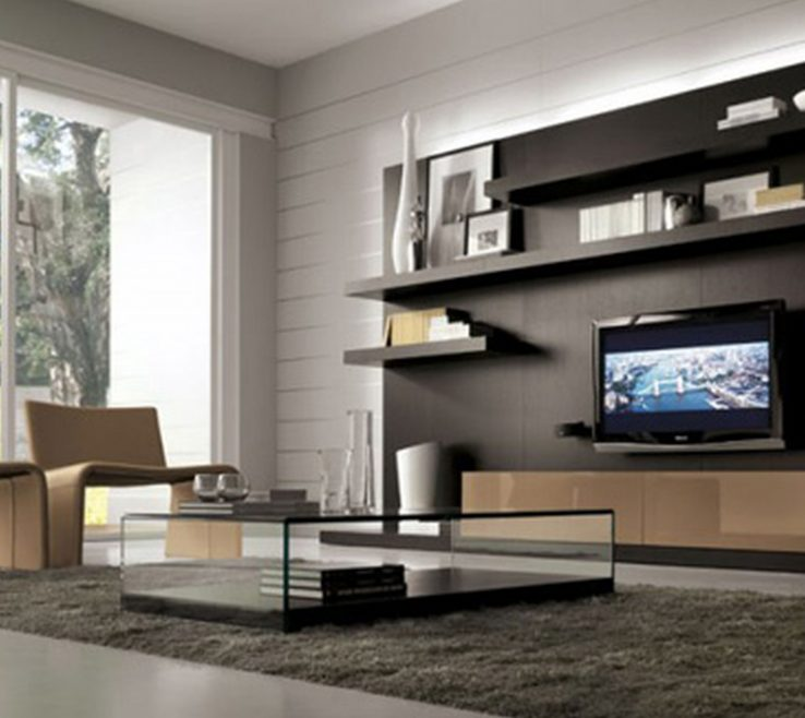 Exquisite Wall Units Designs For Living Room Of Modular Wooden Modern Storage Unit On Grey
