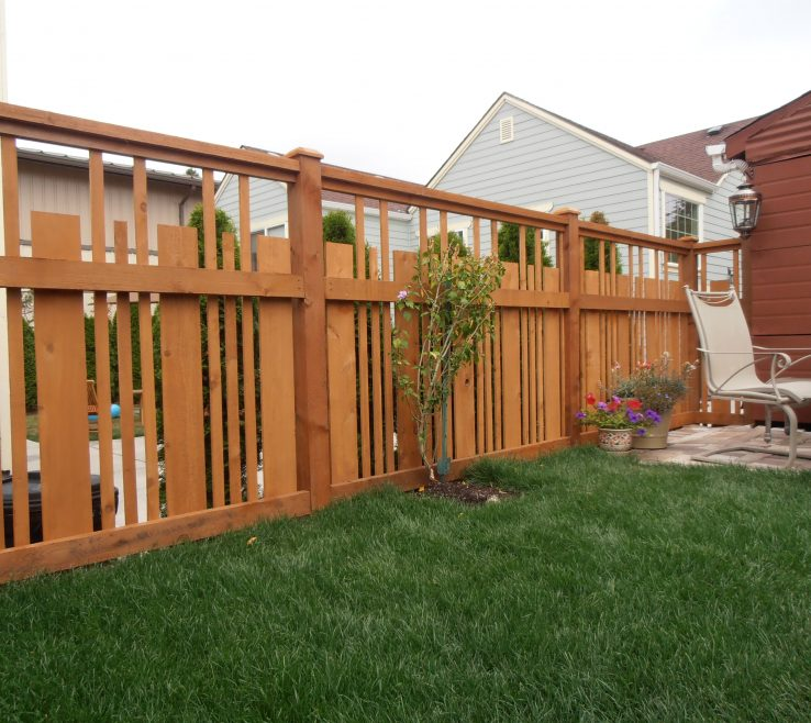 Exquisite Wood Fence Designs Of Cedar With Spaces