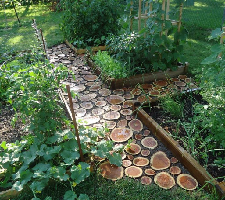 Exquisite Wood Garden Path Of Dcabebcbfd