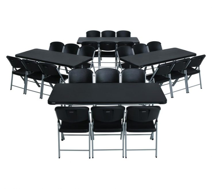 Extraordinary Collapsible Table And Chairs Of 28 Piece Black Folding Chair Set