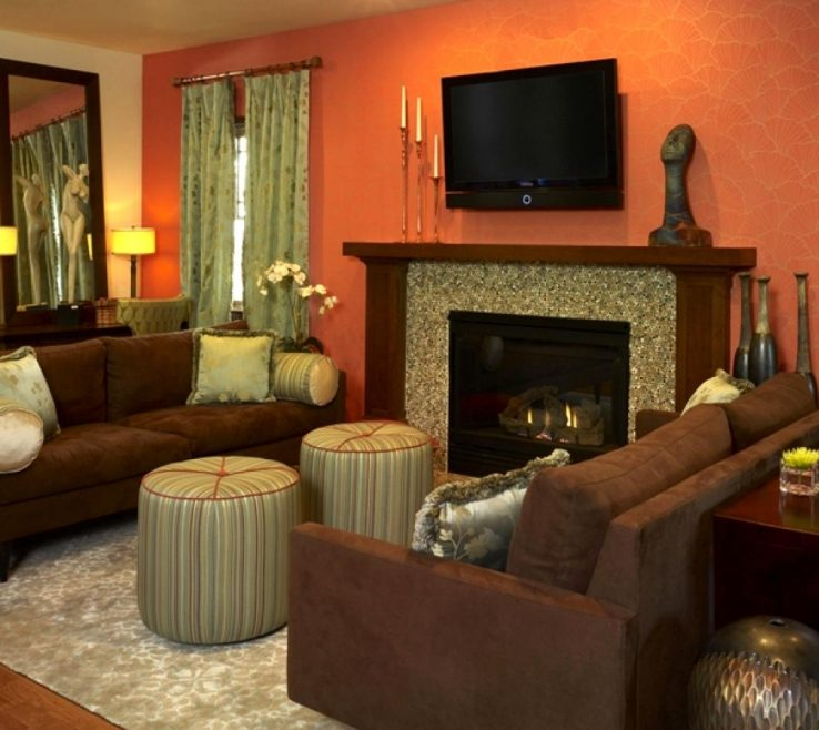Eye Catching Curtains With Orange Walls Of Adorable Ideas Burnt Paint Navy And Bedroom