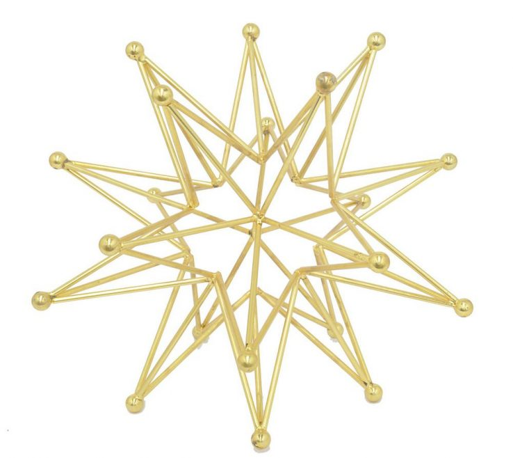 Eye Catching Geometric Decoration Of Gold Metal