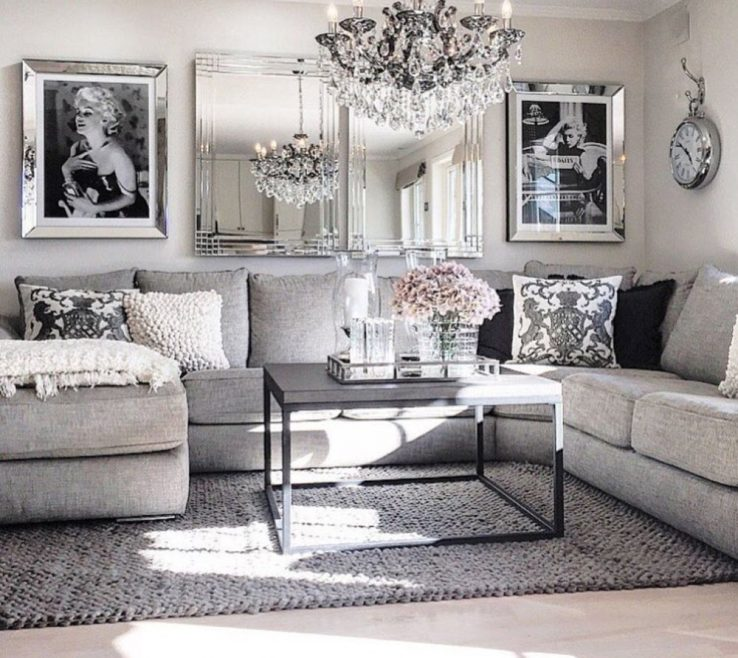 Eye Catching Modern Decorating Living Room Of Glam Ideas 19 Home Inspiration