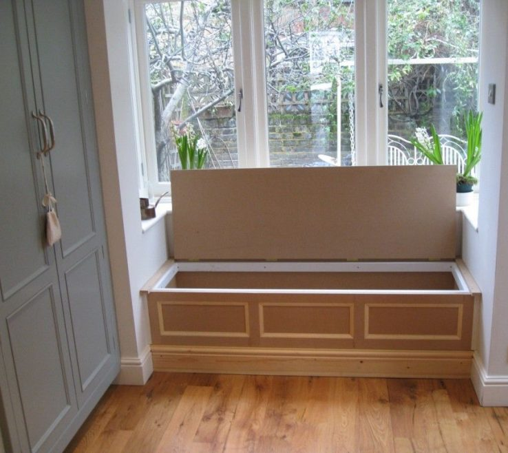 Eye Catching Under Window Seat Storage Of Seating And Bay Idea With Wooden Materials