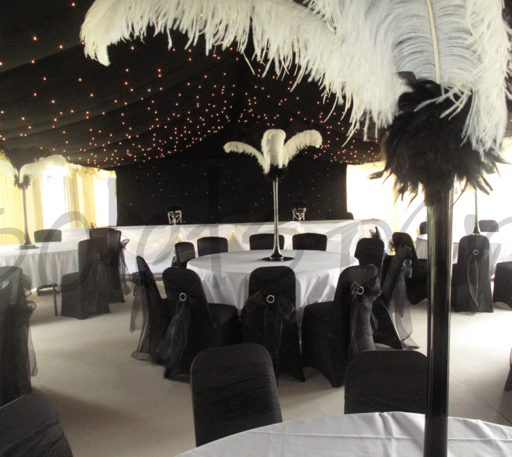 Fascinating Black And White Decorating Ideas For A Party Of Black White Wedding Decoration