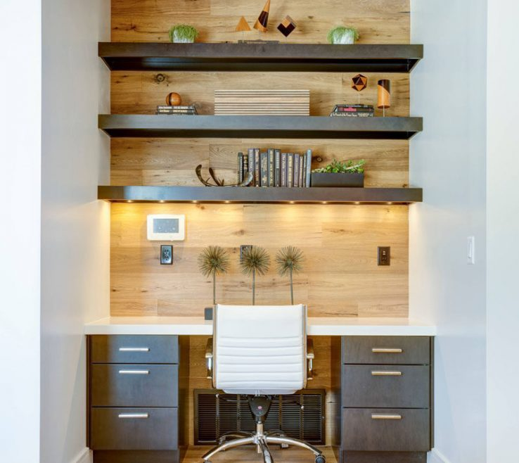 Fascinating Built In Desk Ideas For Small Spaces Of 10 Home Office Good Lighting Is
