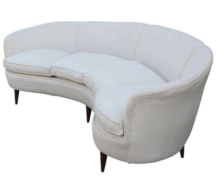Fascinating Curved Modern Sofa Of White Italian
