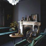 Fascinating Dark Green Living Room Of Furniture
