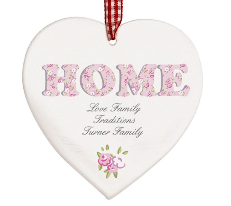 Fascinating Heart Decorations Home Of Personalised Floral Design Wooden Shaped Decoration