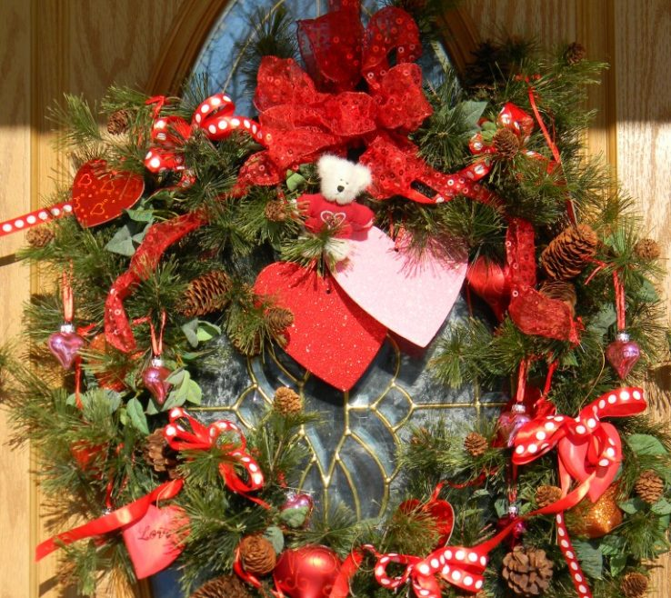 Fascinating Heart Decorations Home Of Valentine Wreath