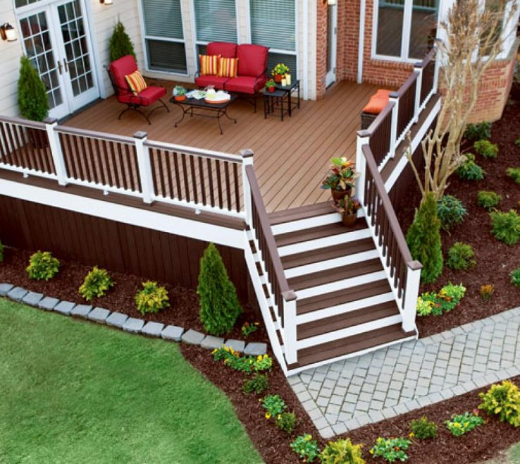 Fascinating Outdoor Stairs Ideas Of Accessing Your Deck