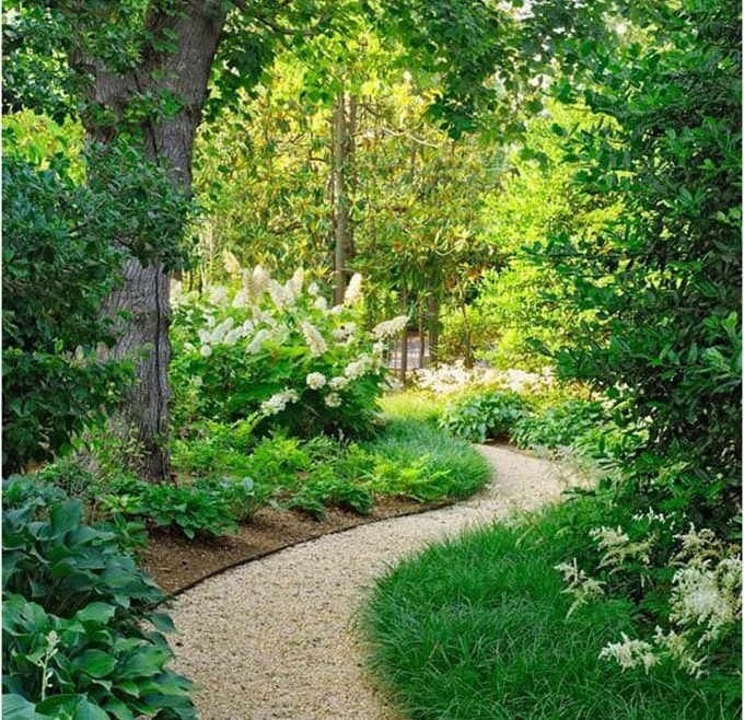 Fascinating Wood Garden Path Of Pros: Chips, Gravel And Stepping Stones (