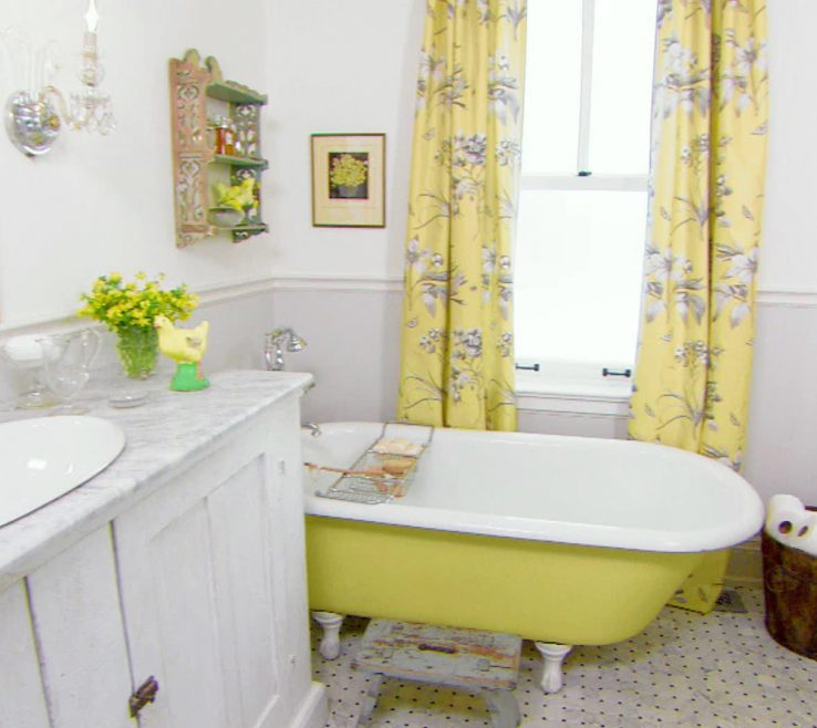Fascinating Yellow Bathroom Paint Ideas