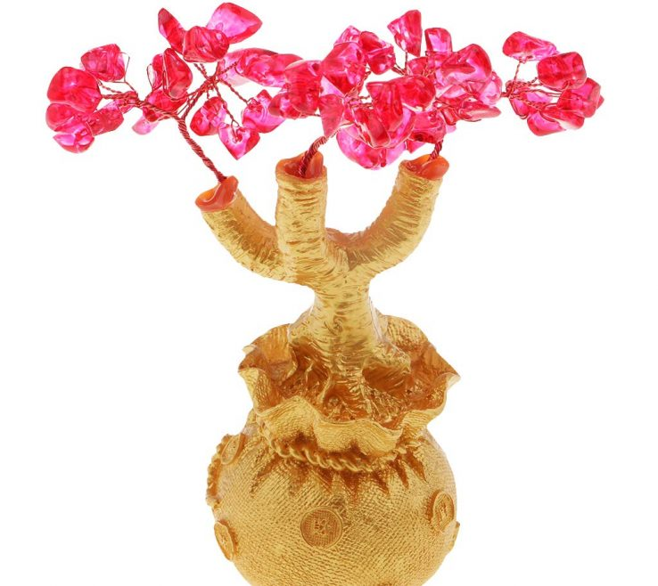 Feng Shui Stones For Wealth Of Prettyia Crystal Gem Fortune Tree Money Tree
