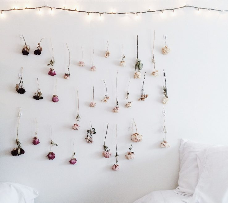 Flower Wall Decorations Of How To Make Your Own Ombre Dried
