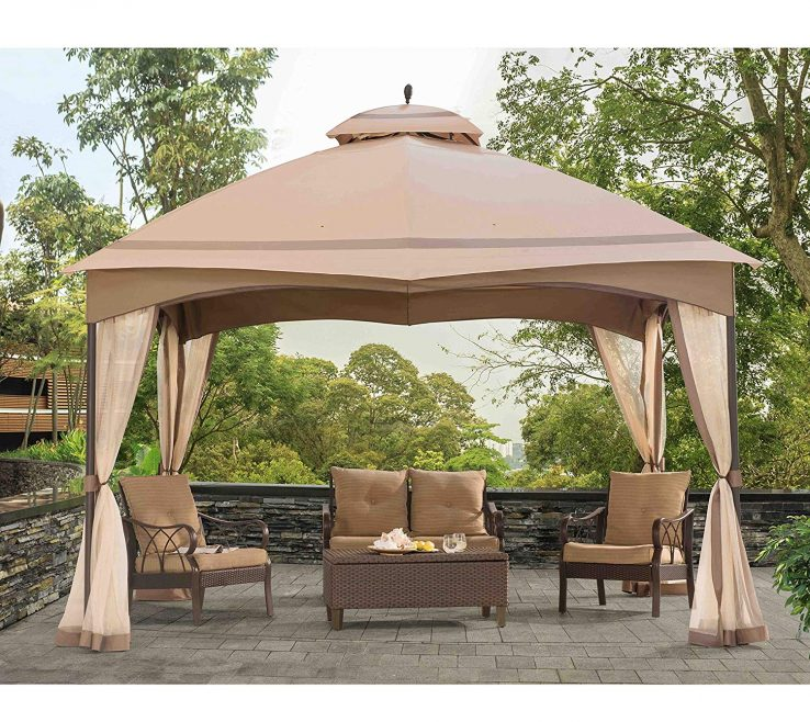 Furniture For Gazebo Of Conceptreview: Sunjoy Replacement Ting Bellagio Gazebo: