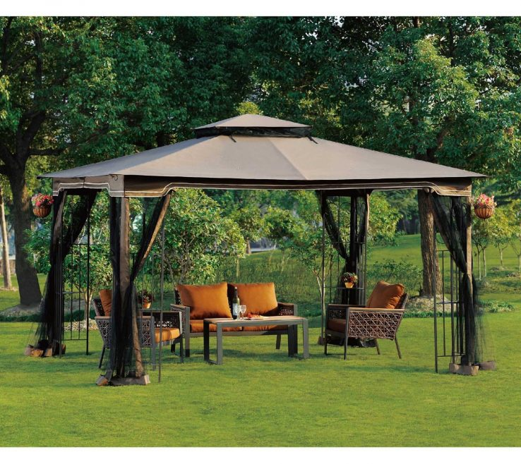 Furniture For Gazebo Of Enchanting Garden Design With Unique Gazebo: