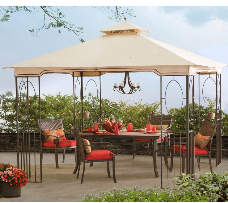 Furniture For Gazebo Of Sunjoy Seaton Aim 10 Ft. W X