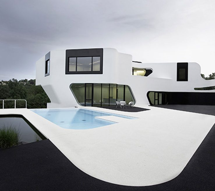 Futuristic E Ideas Of Contemporary Residence With Design In Germany Pool
