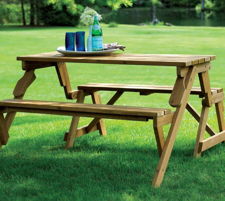 Garden Bench Table Of Picnic Table/garden